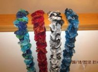 Handknit scarves from a few years back.