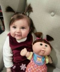 Looks like someone found their cabbage patch twin.