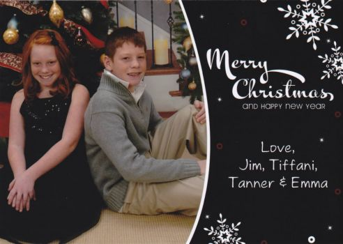 Christmas card from my Son and Family