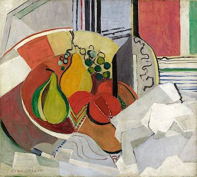 Komposition mit Fruchtschale (Composition with Fruit Bowl), Oskar Moll