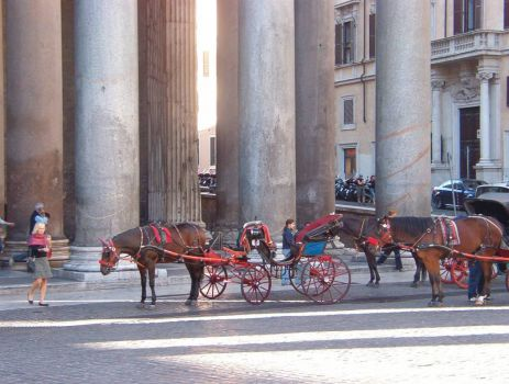 taxi at the pantheon
