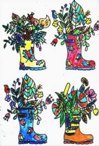 Shoes Coloring Shoe Planters For Earth Day
