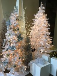 Christmas Trees in White I