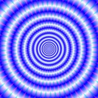 Concentric Rings in Blue and White