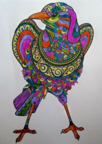 Bird - coloring book