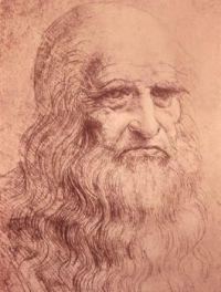 Da Vinci, Self portrait in old age (1512)