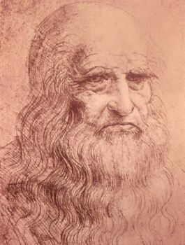 Da Vinci, Self portrait in old age (1512)