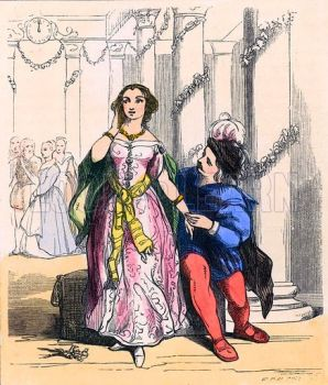 Cinderella at the Prince's Ball, c1859 by John Absolon