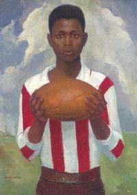 Angel Zarraga (Mexican, 1886-1946), Retrato de un Jugador de Rugby (ca 1925)