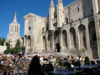 XIII century Popes' Palace in Avignon, France