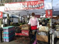 Peanut vender at Beaverton, OR  Farmer's Market