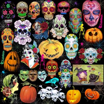 Sugar skulls and scary things