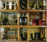 Antique Doll House with Thick Floors