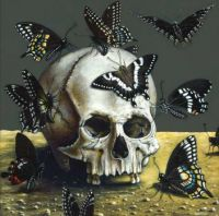 Buttyfly and Skull