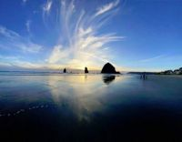 HAYSTACK ROCK TIDE IN