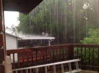 Rain storm in West Valley City, Utah  June 6, Saturday