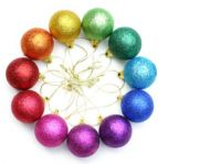 Rainbow Christmas Ornaments