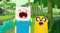 Jake & Fin from Adventure Time!