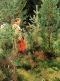"Anders Zorn, ""Herdsmaid"""