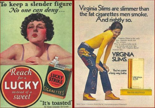 Vintagecigarette ads--saying same thing