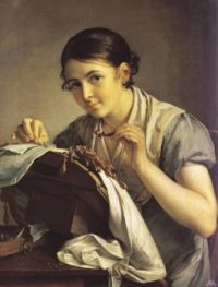 V. Tropinin. Lace-maker