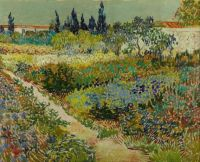 Van Gogh, Flowering Garden with Path, July 1888