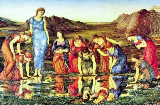 Burne-Jones - The Mirror of Venus (1875)