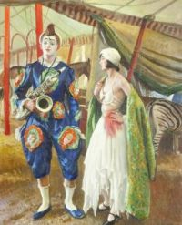 A Musical Clown, 1930, Laura Knight