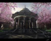 Temple in spring