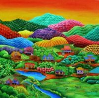 Rainbow Mountains ~  Naif Art