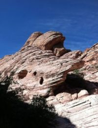 Cool Red Rock Canyon formation