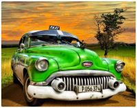 1950's era Green Buick Taxi - maybe Cuba?