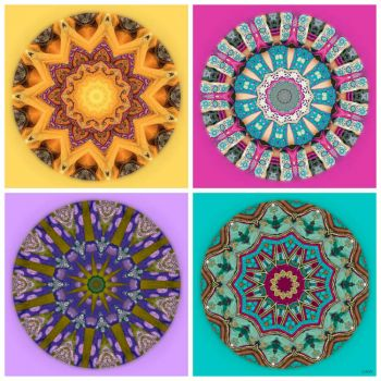 Weekly Theme 'Music and Dance': Kaleidos made from ...... Bollywood Costume Fabrics!! ~ Medium