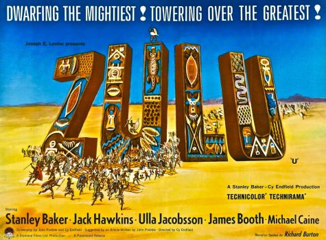 ZULU - UK POSTER, 1964. PREMIERED IN LONDON, 50 YEARS AGO TODAY