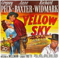 YELLOW SKY - 1948 MOVIE POSTER  GREGORY PECK, ANNE BAXTER, RICHARD WIDMARK