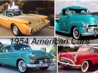 1954 American Cars collage