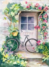 Bike and Door with Roses