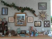 """THEME:  Homes -This is the same wall from Saturday's reminder puzzle - a lot more """"busy"""" now.  I love it."""