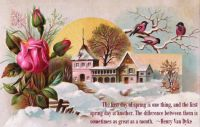 THEME ~~  1st Day of Spring ---- Vintage Card