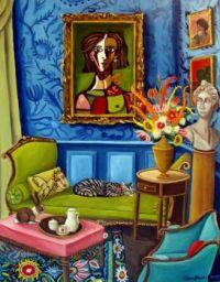 Interior in Blue