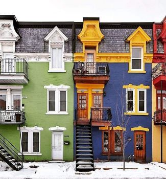 Colourful Montreal. Plateau