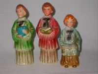 3 Christmas Chalkware Choir Boys