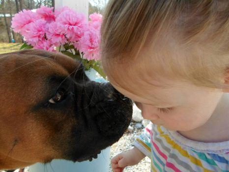 girl&dog