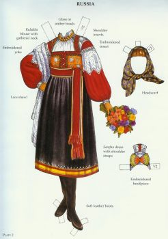 Russian Costumes Paper Dolls