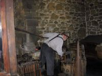 The Fort Larned, Kansas Blacksmith At His Forge