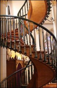 Miracle staircase, Loretta Chapel in Sante Fe, NM