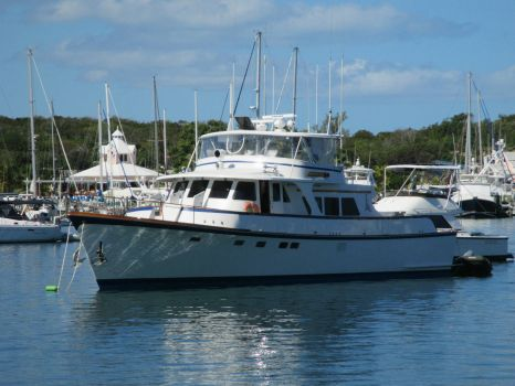 Beautiful Yacht in Hope Town Harbour, Bahamas