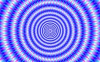 Concentric Rings in Blue and Pink