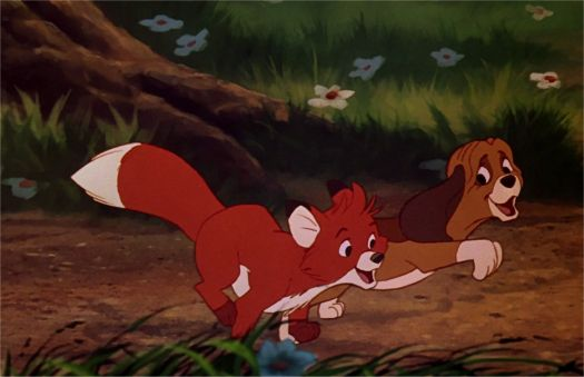 The Fox and the Hound at play