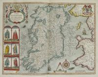old map of Ireland by John Speed